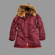 Damska kurtka N3B VF 59 WMN ALPHA INDUSTRIES bordowa