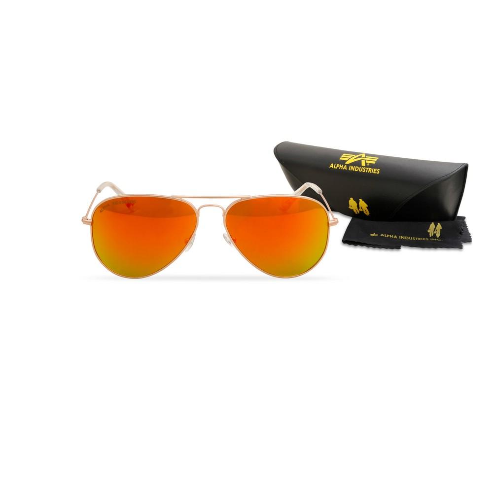 Okulary przeciwsłoneczne ALPHA INDUSTRIES TOP GUN M złote