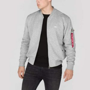 Bluza X-FIT SWEAT JACKET MA-1 szara