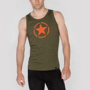 alpha-industries-star-tank-tank-dark green