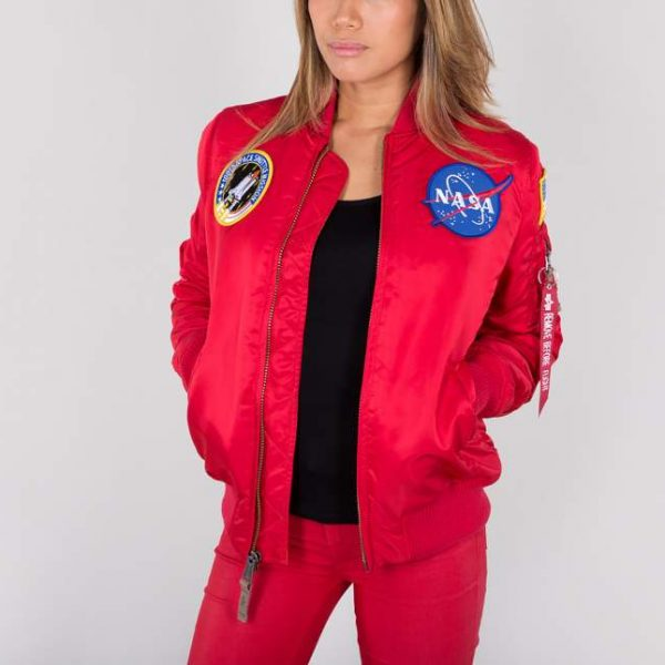 MA-1 NASA WMN speed red Alpha Industries1