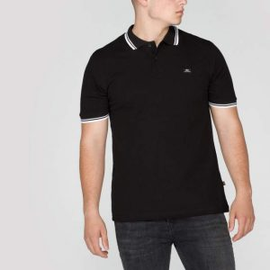 black white stripe polo II Alpha Industries