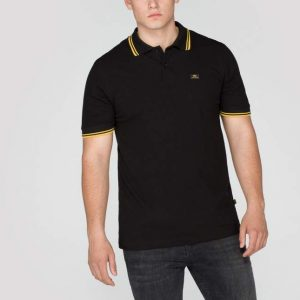 black yellow stripe polo II Alpha Industries