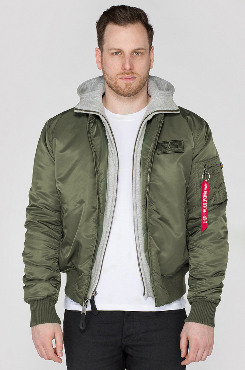 newest be447 72794 Kurtka MA-1 D-TEC ALPHA INDUSTRIES dark green