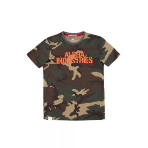 Koszulka Bllured woodland camo 65 Alpha Industries