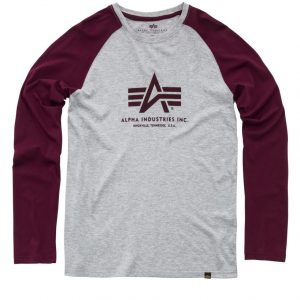 Longsleeve Alpha Industries LS burgundy