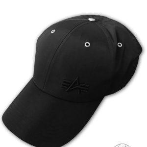 Czapka z daszkiem ALPHA INDUSTRIES FLIGIT Cap Small Logo czarna