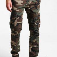 Spodnie długie AGENT C ALPHA INDUSTRIES woodland camo